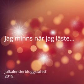 Julkalenderbloggstafetten sparkar igång imorgon